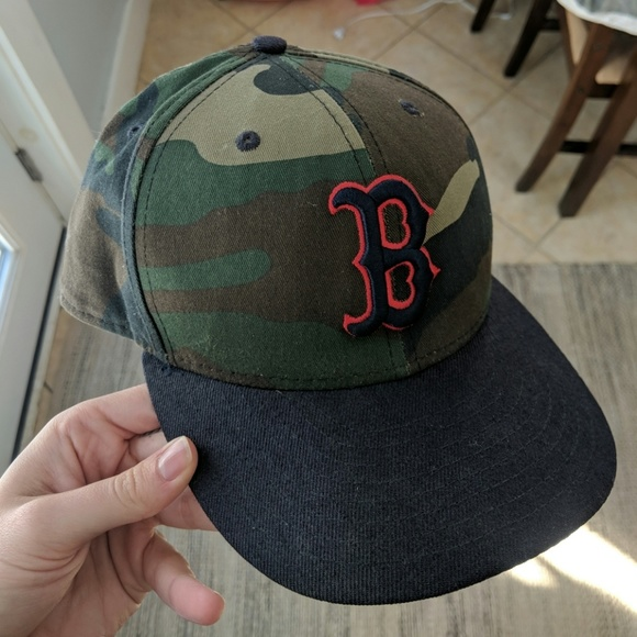 285a65d92 Limited edition camo Boston Red sox fitted hat